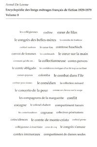 Armel de Lorme - Encyclopédie des longs métrages français de fiction 1929-1979 - Volume 8 (de Cocagne à Convoi de femmes).