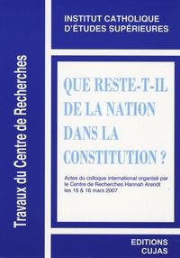 Armel Pécheul - Que reste-t-il de la Nation dans la Constitution ?.