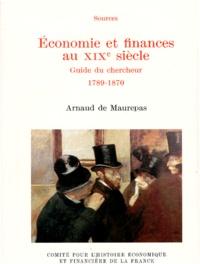 Deedr.fr ECONOMIE ET FINANCES AU XIXEME SIECLE. - Guide du chercheur 1789-1870 Image