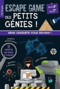 Arnaud Durand et Julien Durand - Escape game des petits génies ! - De la 4e à la 3e.