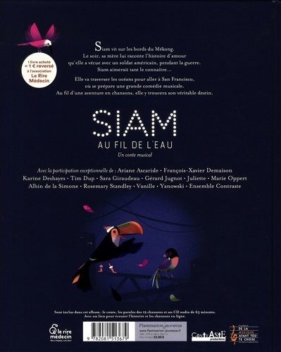 Siam, au fil de l'eau  avec 1 CD audio