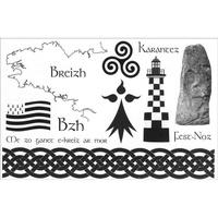 Ars in cute - 12 tatouages bretons et celtes vendus par boîte de 30 cartes.