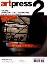 Anaël Pigeat - Art Press N° 26, Août-septembr : Mac/Val : ce que l'art fait à la littérature.