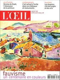 Jean-Christophe Castelain - L'Oeil N° 571, Juillet-Aout : Fauvisme - Un centenaire en couleurs.