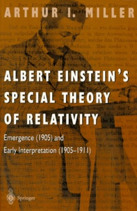 Histoiresdenlire.be ALBERT EINSTEIN'S SPECIAL THEORY OF RELATIVITY. - Emergence (1905) and Early Interpretation (1905-1911) Image