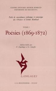 Arthur Rimbaud et André Bandelier - Poésies en 2 volumes : Tome 1, 1869-1872 ; Tome 2, Table de concordances.