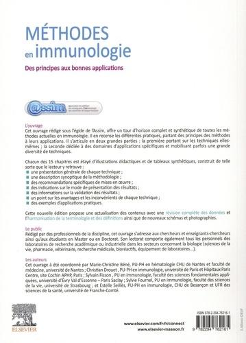 Méthodes en immunologie. Des principes aux bonnes applications 2e édition