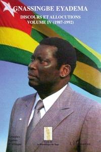 Assiongbor Folivi - Gnassingbe Eyadema, Discours et allocutions - Volume 4, 1987-1992.