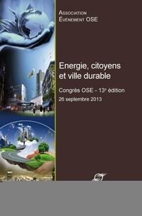Energie, citoyens et ville durable - Congrès OSE, 13e édition.pdf