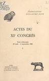Association Guillaume Budé - Actes du XIe Congrès (1) : Pont-à-Mousson, 29 août-2 septembre 1983 - Pont-à-Mousson, 29 août-2 septembre 1983.