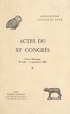 Association Guillaume Budé - Actes du XIe Congrès (2) : Pont-à-Mousson, 29 août-2 septembre 1983.