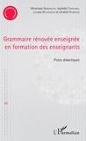 Athanase Simbagoye et Isabelle Carignan - Grammaire rénovée enseignée en formation des enseignants - Pistes didactiques.