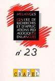 Richard Duda et Odile Regent - Mélanges N° 23 : .