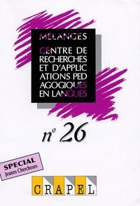 Hervé Adami et Christine Arnaud - Mélanges N° 26 : Spécial Jeunes Chercheurs.
