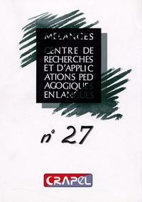 Hervé Adami et Sophie Bailly - Mélanges N° 27 : .
