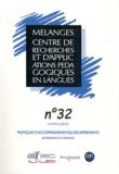 Anne Chateau et Dominique Macaire - Mélanges N° 32 : Pratiques d'accompagnement(s) des apprenants en présentiel et à distance.