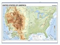 Edigol - United States physical/political - Wall Map 100 x 140 cm.