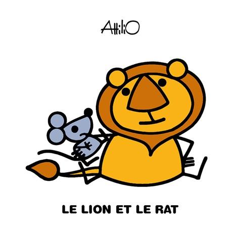 Attilio Cassinelli - Le lion et le rat.