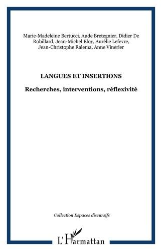 Aude Bretegnier - Langues et insertions - Recherches, interventions, réflexivité.
