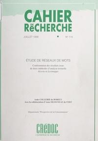 Aude Collerie de Borely et  Centre de recherche pour l'étu - Étude de réseaux de mots - Confrontation des résultats issus de deux méthodes d'analyse textuelle, Alceste et Leximappe.