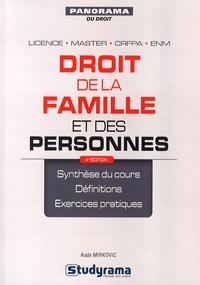 Aude Mirkovic - Droit de la famille et des personnes.