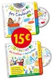 Aude Parmentier et Marie-Pierre Tiffoin - Mon atelier des Chiffres et des Lettres ; Mon atelier des Couleurs - Pack 2 volumes. 2 CD audio