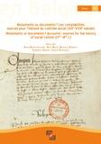 Aude Wirth et Aude Musin - Monuments ou documents ? - Les comptabilités, sources pour l'histoire du contrôle social (XIIIe-XVIIIe siècles).