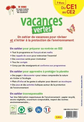 Vacances vertes, du CE1 au CE2. Le premier cahier de vacances écoresponsable !  Edition 2021
