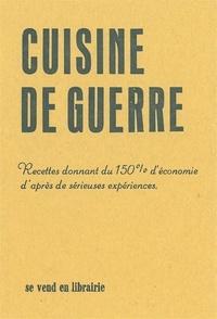 Auguste Jotterand - La Cuisine de guerre.