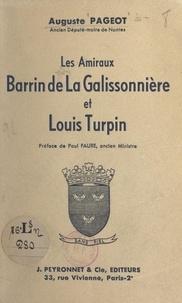 Auguste Pageot et Paul Faure - Les amiraux Barrin de La Galissonnière et Louis Turpin.