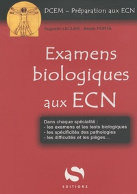 Augustin Lecler et Basile Porta - Examens biologiques aux ECN.