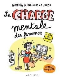 Aurélia Schneider et  Muzo - La Charge mentale des femmes et celle des hommes illustrée.