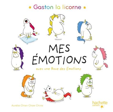 Gaston la licorne, mes émotions. Avec une roue des émotions