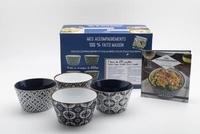 Aurélie Desgages - Mes accompagnements 100% faits maison - Avec 4 bols en céramique.
