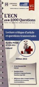 Aurélie Pham - Lecture critique d'article et questions transversales - L'ECN en + 1000 Questions.