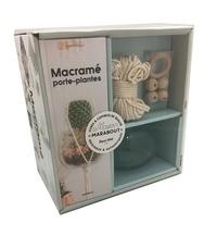 Birrascarampola.it Coffret macramé porte-plantes - Avec une pelote de corde en coton, un anneau de départ, 4 perles Image