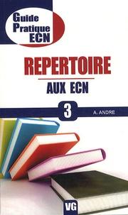 Aurélien André - Répertoire aux ECN.