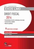 Aurélien Baudu - Droit fiscal - 9 exercices corrigés.