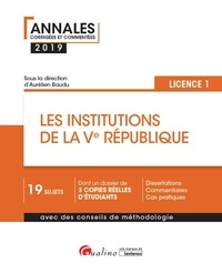 Aurélien Baudu - Les institutions de la Ve République - Licence 1.