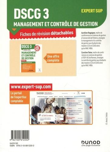 DSCG 3 Management et contrôle de gestion. Fiches de révision  Edition 2020