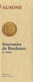 Ausone de Bordeaux - Souvenirs de Bordeaux.