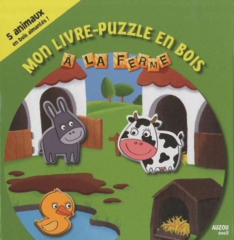 Auzou - Mon livre puzzle en bois à la ferme.