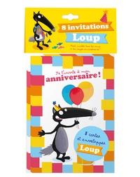 Pack de 8 invitations Loup, pour inviter tous tes amis à ton super anniversaire !- Avec 8 enveloppes -  Auzou pdf epub