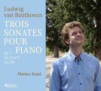 Ludwig von Beethoven - Trois sonates pour piano. 1 CD audio MP3