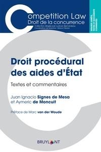 Lemememonde.fr Droit procédural des aides d'Etat - Textes et commentaires Image
