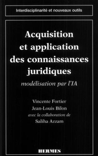 Azzam et  Bilon - Acquisition et application des connaissances juridiques - Modélisation par l'intelligence artificielle.