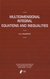 B. G. Pachpatte - Multidimensional Integral Equations and Inequalities.