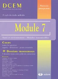 Module 7- Santé et environnement - Maladies transmissibles - B Gachot |