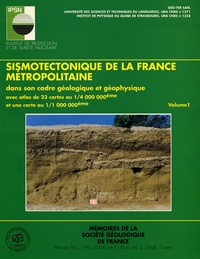 Deedr.fr Sismotechtonique de la France métropolitaine dans son cadre géologique et géophysique en 2 volumes Image