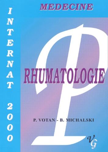 B Michalski et Patrice Votan - Rhumatologie.